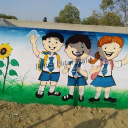 Play School Cartoon Work in malviya nagar jaipur rajasthan
